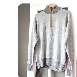 ‼️ Orvis Gray Quarter Zip Pullover Size Medium